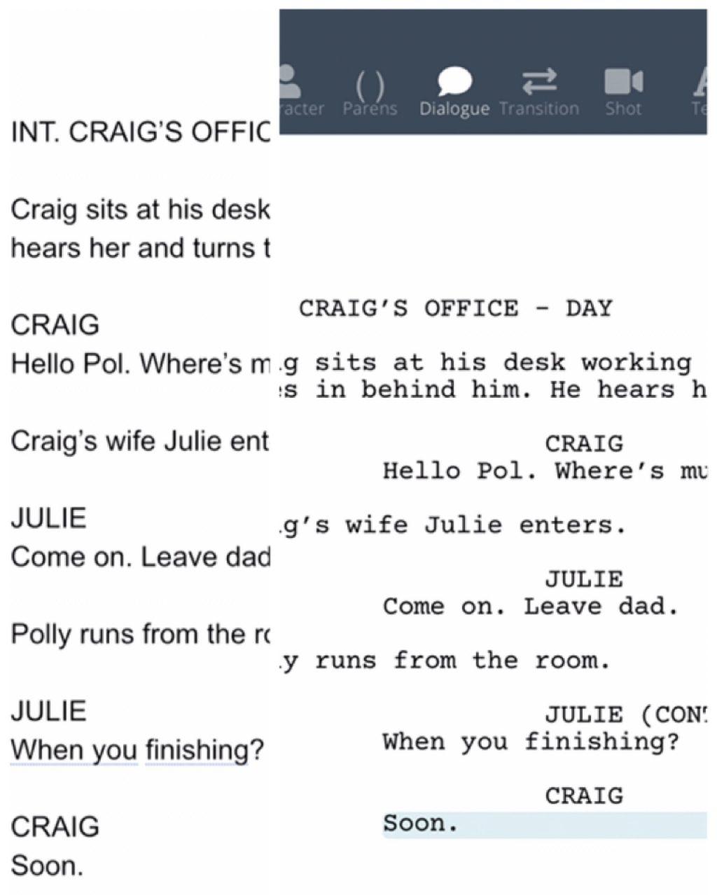 Tricks to using screenwriting software